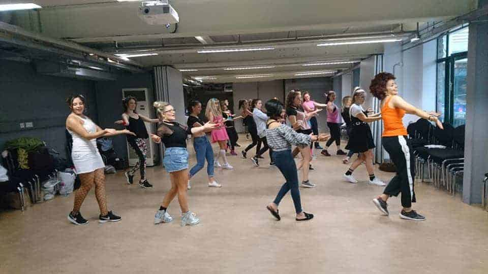 Girls on a Hen Night enjoying a Sashay Dance Spice Girls Hen Party Dance Class