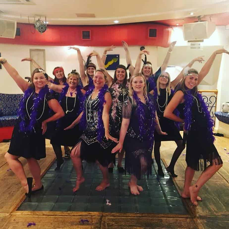 Hens enjoying a fun hen do dance class in Liverpool